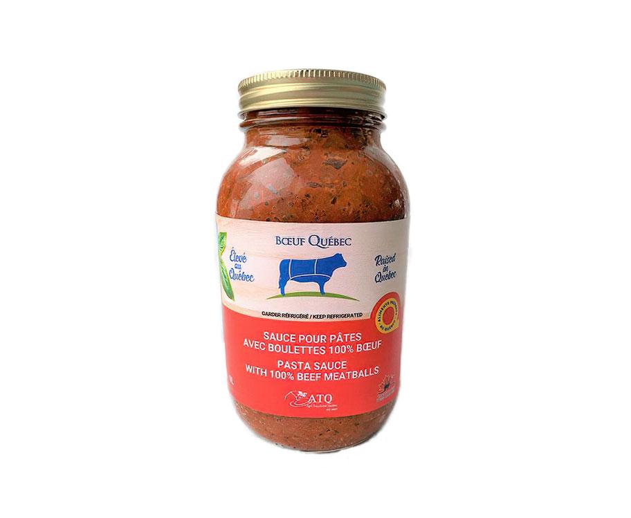 Sauce pour pâtes avec boulettes 100% boeuf